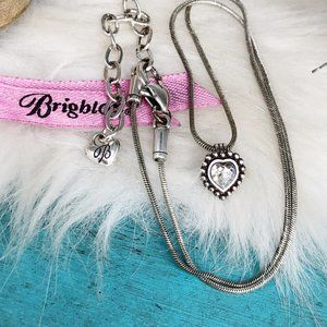 Brighton Twinkle Heart Silver Crystal Necklace